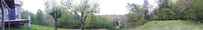 Panorama van de tuin